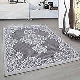 Fabelia Moderner Europäisch-Orientalischer Teppich Aegea (120 cm x 170 cm, Grey Palace Flowers)