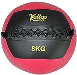 WALL BALL Palla Medica Palestra Ecopelle Nera Rossa 8 kg