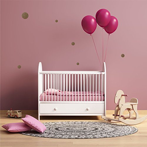 greenluup Wandsticker Wandaufkleber 154 Punkte Polka Dots GOLD matt Kinderzimmer Babyzimmer Wanddekoration