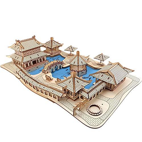S+S 3D Holz Puzzle Spielzeug DIY Selbst Organisiert Handwerk Gebäude Stadtlandschaft Gesetzt Lernen Wissen Beste Modell Gesetzt Erwachsene Und Kinder, 315 Stücke - Mech-modell-kit