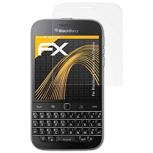 atFolix Panzerfolie kompatibel mit BlackBerry Classic Non Camera Schutzfolie, entspiegelnde & stoßdämpfende FX Folie (3X)