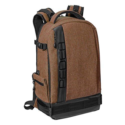 """PEDEA SLR-Kamerarucksack """"Fashion"""" Kameratasche Fotorucksack SLR Rucksack mit Regenschutz, variabler Inneneinteilung und Zubehörfächern, ..."""