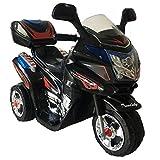 Kinder Motorrad Elektrofahrzeug Polizei Bike Kindermotorrad Elektromotorrad (Schwarz)