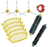 Techypro® Reposición Pack Cepillos Kit para iRobot Roomba aspiradora serie 500-incluyen un conjunto de 11