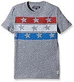 Tommy Hilfiger Jungen T-Shirt Flag CN Tee S/S, Gr. 176 (Herstellergröße: 16), Grau (Black Iris 002)