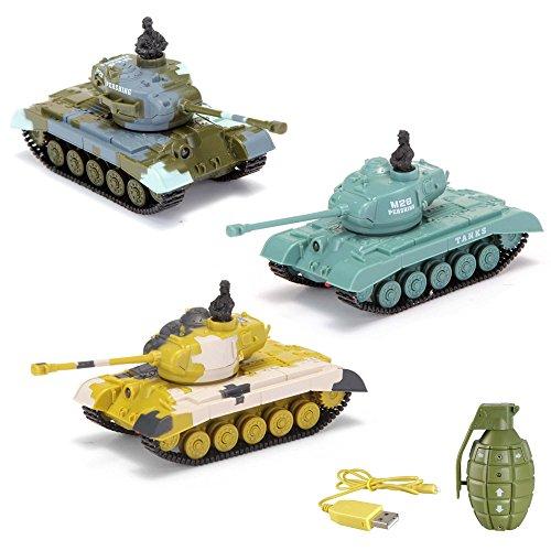 U.S. M26 Pershing - RC mini ferngesteuerter Panzer mit Schusssimulation Sound, Beleuchtung, 1:77 Modell-Maßstab, Komplett-Set inkl. Fernsteuerung
