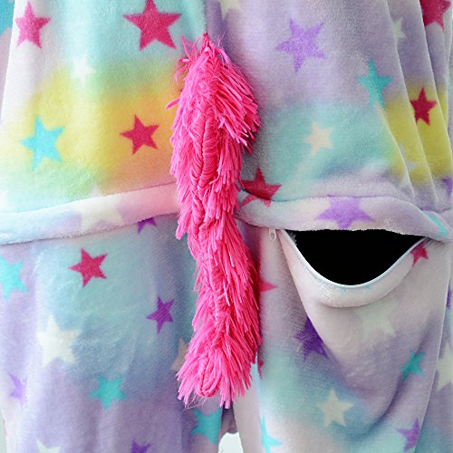 Pigiama Unicorno Adulto Halloween Anime Cosplay Costume Animale Flanela Unisex Stella
