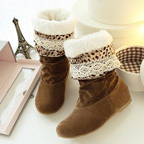 Donna Scarponi da neve il nuovo, in stivali Suola in gomma slittata indossare impermeabile, Assorbimento degli urti, cavo Filo di cotone gancio pizzo signora addensare Scarponi da neve yellow