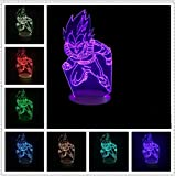 Kreative Sieben Dragon Ball Saiyan Vegeta 3D Lampe Evolution Multicolor Gradienten Led Tisch Schreibtisch Nachtlicht Jungen Geschenke Kinder Spielzeug
