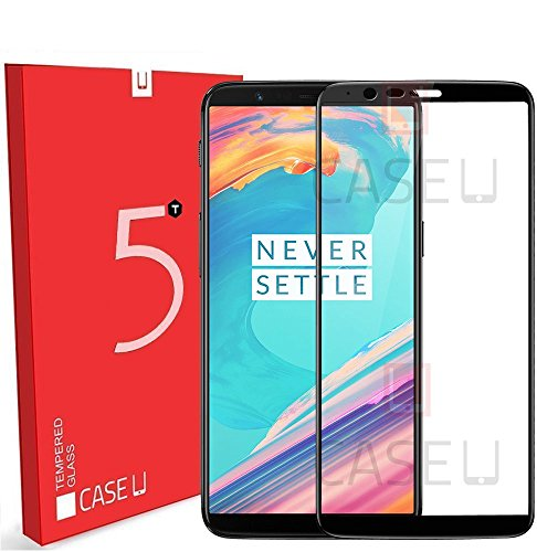 OnePlus 5T 3D Tempered Glass Screen Protector, Full Edge-to-Edge 3D Protector