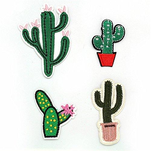 Oyfel Stickerei Patches für Kleidung Aufkleber Denim Aufnäher Art Craft Nähen Eisen auf Jacken Kleidung Hüte Cute Kaktus Muster 4 (Kaktus Kostüm Muster)