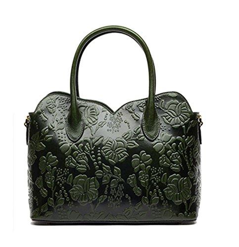 Keshi Leder Niedlich Damen Handtaschen, Hobo-Bags, Schultertaschen, Beutel, Beuteltaschen, Trend-Bags, Velours, Veloursleder, Wildleder, Tasche Grün