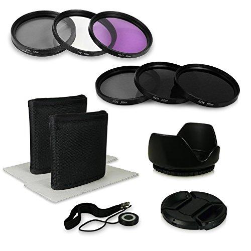 55 8in1 Accessori Bundle Kit per Fotocamere Canon EOS 1100D 550D Sony Alpha 100 200 230 290 330 350 380 390 Alpha 7 Sony Alpha SLT 33 SLT 35 SLT 37