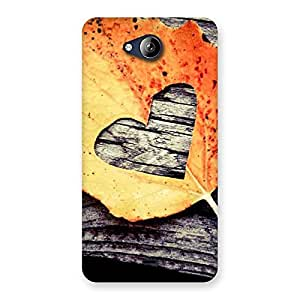 Delighted Leaf Heart Back Case Cover for Canvas Play Q355