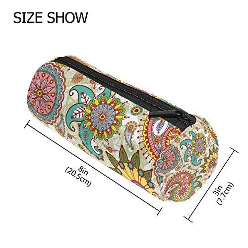 tizorax Paisley und Blumen Federmäppchen Pen Tasche mit Reißverschluss Münze Organizer Make-up costmetic Tasche für Frauen Mädchen Jungen Teenager Kinder