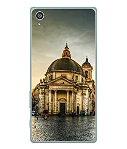 PrintVisa Designer Back Case Cover for Sony Xperia Z3 + Plus (glossy road infront of monument)
