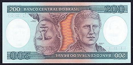 Generic Brazil 200 Cruzeiros 1984 Rare Note