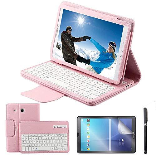 cover tablet samsung tab e 9.6 REAL-EAGLE Custodia Galaxy Tab E 9.6 Bluetooth Tastiera con Screen Protector & Stylus