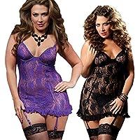 FANGHAO Delle donne sexy Grandi dimensioni della biancheria del merletto