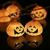 Lixada 5m 20LEDs Halloween Kürbis Schnur Helle Lampe/Stimmungslichter, Lichtfarbe: Warmweiß.