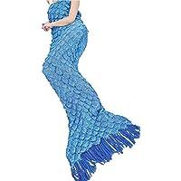 Manta Sirena Todas Las Estaciones Ganchillo de la Mano Cola de Sirena de Punto Manta Adultos Bolsa Dormir,002