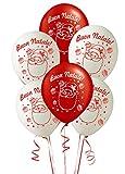 ocballoons Palloncini Stampa Buon Natale in Lattice 25pz Addobbi Decorazioni