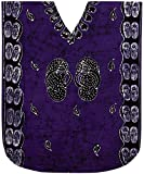 LA LEELA Baumwolle Batikkleid Maxi Kaftan Oben verschleiern Kleid Kimono Lange Strandabnutzung l-4x
