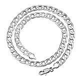 Kangqifen Schmuck Damen Herren Halskette 925 Silber Kette,Breite 4 mm - Länge frei wählbar(60cm)
