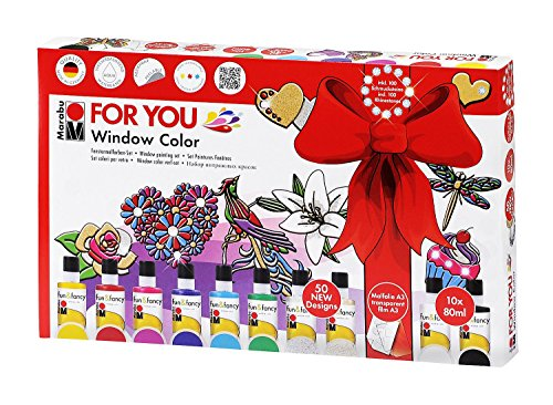 Marabu 040600116 - Window Color Set-For You, 80 ml