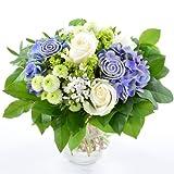 Blumenversand - Blumenstrauß versenden - zum Geburtstag - Sommerfrische mit blauer Hortensie - mit Gratis - Grußkarte zum Wunschtermin versenden
