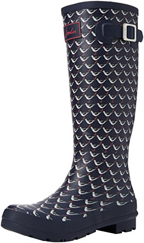 Joules Wellyprint, Bottes de Pluie femme Blue (French Navy Oyster Catcher)