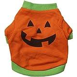 Haustierkleidung,Halloween Haustier Welpe Hund Shirt Tops Kürbis Kostüme von Sannysis