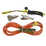 Torcia a gas Bruciatore 2m Tubo regolatore idraulico copritetti Kit di erbaccia butano Propano TE389