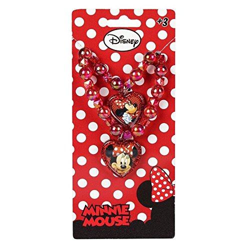 Disney minnie mouse set gioielli bambina collana + braccialetto