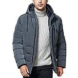 Luckycat Herrenmode Winter Hoodie Reißverschlusstasche verdickte Baumwolle Outwear Jacke Mantel Winterjacke Steppjacke Daunenjacke Parka Mäntel Jacken