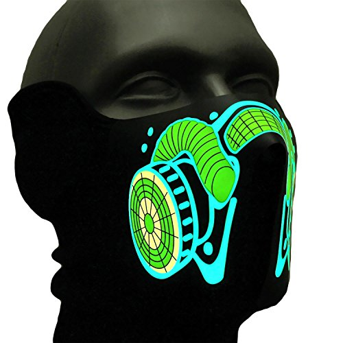 Soundaktive Leuchtmaske