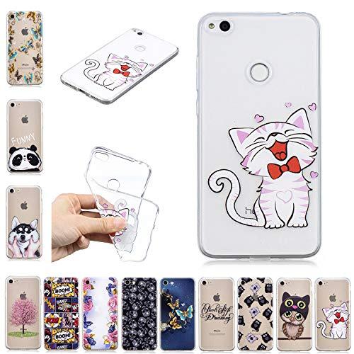 E-Mandala kompatibel mit Xiaomi Redmi 4A Hülle Ultra Dünn Slim Durchsichtig Silikon Schutzhülle Handy Tasche Etui Handyhülle Transparent mit Muster - Lachende Katze