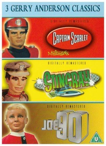 3 Jerry Anderson Classics - Supermarionation - Joe 90 / Captain Scarlet / Stingray