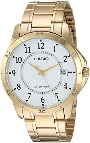 Analog Uhr Gold Casio (Casio Collection MTP-V004G-7BUDF Herrenuhr)