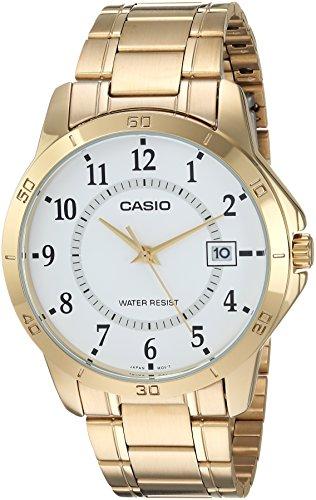 Gold Uhr Casio Analog (Casio Collection MTP-V004G-7BUDF Herrenuhr)