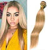Dai Weier 1 Bundles Blond Brazilian Hair #27 Honey Gold Straight Remy Echthaar Extensions Weaves 100g Tressen On Prime Cheap 18 Inch