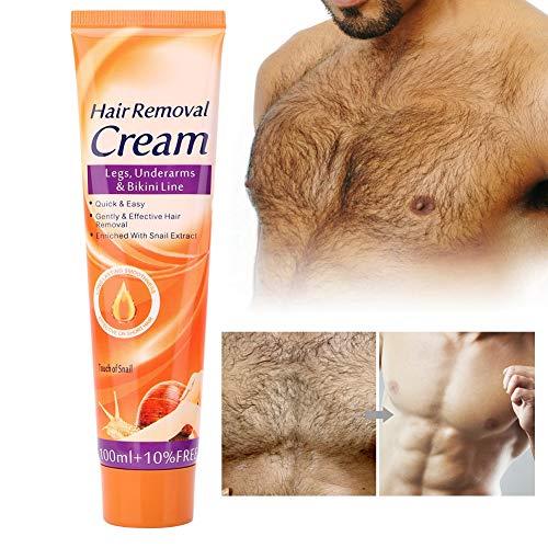 Crema depilatoria per uomo e donna, cura della pelle, crema depilatoria per gambe, ascelle