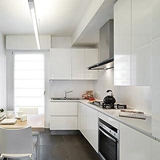 ARUHE® 5M Selbstklebend Tapeten Wandplakate für Küche Fenster oder Möbel Schrank Aufkleber Papier PVC Wandaufkleber Weiß