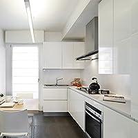 Auralum® PVC Klebefolie Dekofolie 0.61*5M Schränke Tapeten Möbelfolie Küchenfolie Selbstklebend für Küchenschränke Möbel Weiß