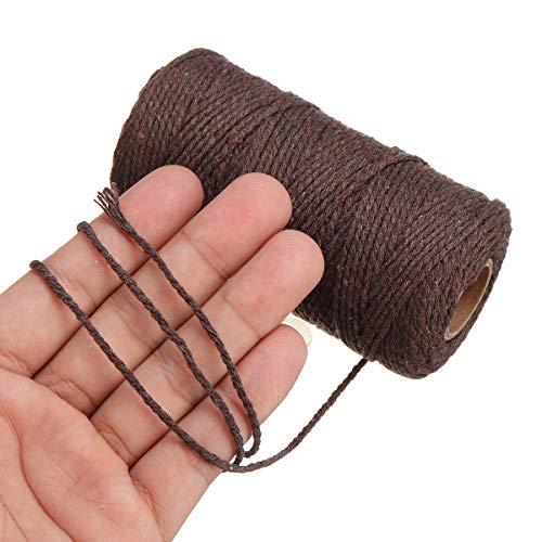 Cuerda trenzada algodón natural 2 mm 5 colores, cuerda
