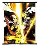 One Punch Man Anime Saitama & Genos Wall Scroll Medium Size - 40x60 CM