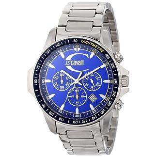 Just Cavalli R7273693035 – Reloj cronógrafo de caballero de cuarzo con correa de acero inoxidable plateada