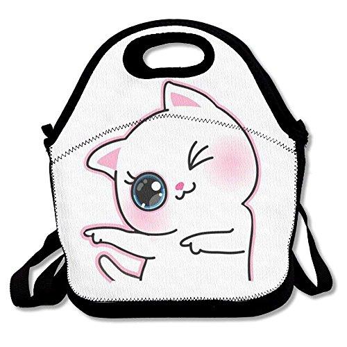 (Isolierte Lunchtasche mit Katzen-Motiv, für Reisen, Schule, Picknick, Lunchbox für Damen und Herren, Giraffe)