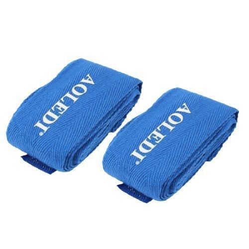 Pair Blue Wrap Around Boksen Pols Hand Band Bandage Protector -