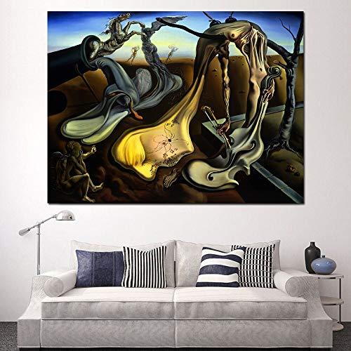 YuanMinglu Leinwand malerei Druck Wohnzimmer Dekoration Papa Nacht Hoffnung Moderne ölgemälde wandkunst rahmenlose malerei 72x90 cm
